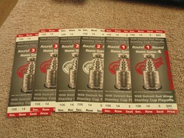 NHL 1998 and 1999 Detroit Red Wings Stanley Cup Playoffs Ticket Stubs - $3.99