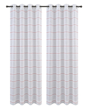 Urbanest Chamon Set of 2 Sheer Curtain Drapery Panels with Grommets image 11