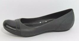 Crocs Femmes Ballerine Sandales Caoutchouc Noir Chaussures à Enfiler Tai... - $20.67