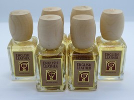 6 English Leather Cologne Splash Spray For Men By Dana 0.6 Fl Oz EA/3.6 TOT-NEW - $22.76