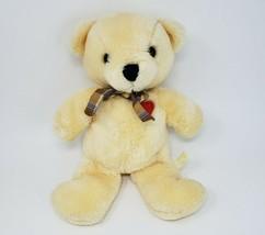 VINTAGE 1983 DAKIN BABY THINGS CREME TEDDY BEAR RED HEART STUFFED ANIMAL... - $64.52