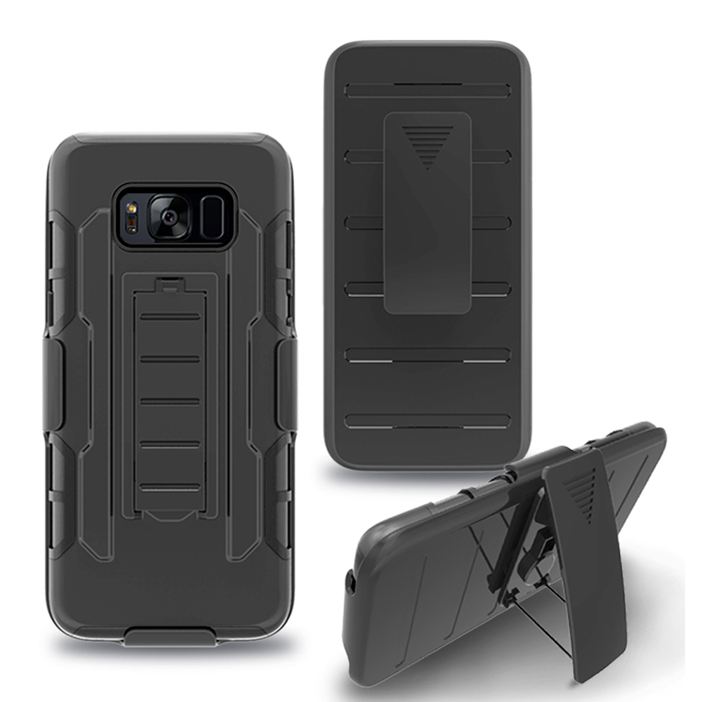 armor hybrid impact matte case belt clip holster cover for samsung galaxy s8 p20170420143104229