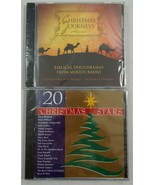Lot of 2 New Sealed in Original Packaging Christmas CDs 20 Christmas Stars - $11.87