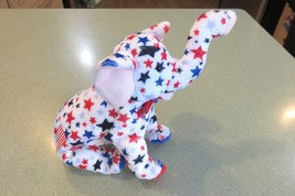 Ty Beanie Baby Original Retired Righty Elephant Year 2004 Red White Blue - $4.05