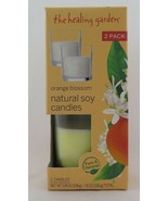 The Healing Garden Orange Blossom Natural Soy Candles, 3.8 oz, 2 count - $13.99