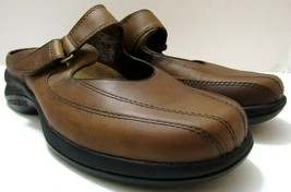 Merrell Womens Sz 7 Topo Clutch Deer Tan Leather Mary Jane Mule Slides Shoes - $37.31