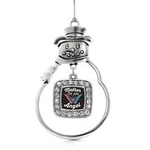 Inspired Silver Mother of an Angel Classic Snowman Holiday Decoration Christmas  - €12,73 EUR