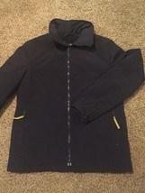 Gap Navy Lined Zip Front Jacket Sz M Gently Used - $11.30