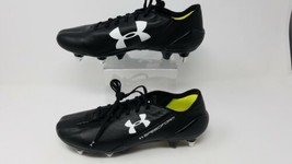 Under Armour Mens Speedform Leather SG Soccer Cleats Black 1276403-002 sz 7.5 - $39.55