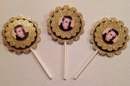 Elvis Presley Cupcake Topper - Elvis Presley Birthday Party - Elvis Part... - $12.00