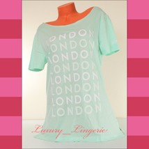 PINK Victoria's Secret LONDON Pajama T-Shirt Sleepshirt Cropped Neck Min... - $15.83