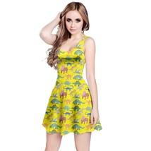 Comic Dinosaurs Printed Women's Elastic Stretchy Sleeveless Dress Size XS-5XL - $27.99+