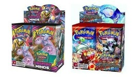 Pokemon TCG Sun & Moon Unified Minds + Primal Crash Booster Box Bundle - $214.99