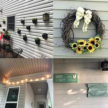 Vinyl Siding Hangers, Heavy Duty Outdoor Light Wreath Pictures Hook for Hanging  image 4