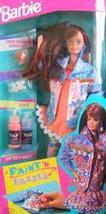 Barbie Paint 'N Dazzle Doll Set (Redhead 1993) - $19.46