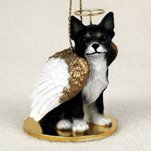CHIHUAHUA (BLACK) ANGEL DOG CHRISTMAS ORNAMENT HOLIDAY  Figurine Statue - $14.99