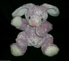 2001 HUGGYBUNNY BUNNY RABBIT PURPLE TY EASTER STUFFED ANIMAL PLUSH TOY R... - $23.38