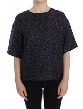 Dolce & Gabbana Blue gold key print silk blouse - $322.33