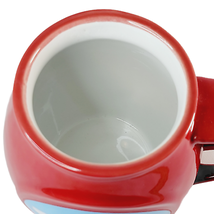 Disney Mickey Mouse Round Coffee Mug in Red Spoon Insert Classic Graphics - $14.98