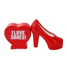 I LOVE SHOES CERAMIC MAGNETIC SALT PEPPER SHAKERS by Attractives - $12.86