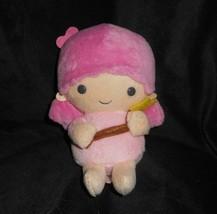 "6"" 2010 SANRIO LITTLE TWIN STARS PINK STUFFED ANIMAL PLUSH TOY LOVEY GER... - $28.05"