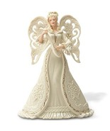 Lenox Angel Serenade Tree Topper Figurine Pierced Mandolin Blonde Christmas NEW - $124.00