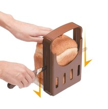 Bread Slicer Guide Kitchen Toast Slicing Loaf Sandwich Cutter Foldable T... - €18,40 EUR