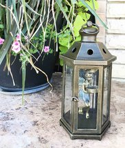 "Large Aluminum Pixie Dust Fairy Hanging Lantern Tea Light Candle Holder 15.75"" T - $130.67"