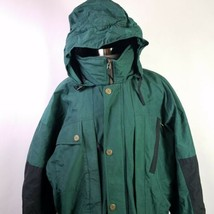 OBERMEYER Snow Suit Elevation I Skiwear Insulated Green Black Mens Size XL - $98.95