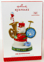 Hallmark: One Snowman Band - Magic Sound Motion - 2013 Keepsake Ornament - $15.43