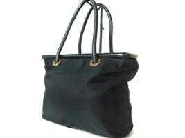 Authentic CELINE Nylon Canvas Leather Black Tote Bag CS8497L - $119.00