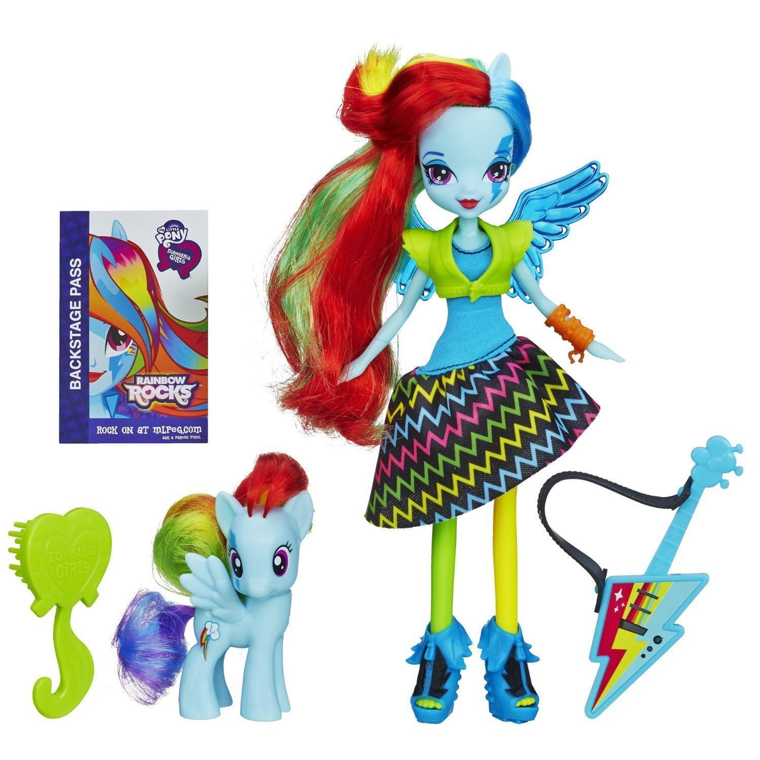 Image 1 of My Little Pony Equestria Girls Rainbow Dash Doll and Pony Set by My Little Pony