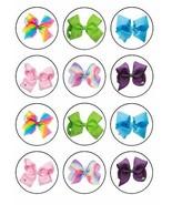 JoJo Siwa Bows ~ One Dozen ~ Cupcake Topper ~ Edible Frosting Image - $9.99