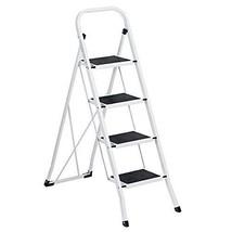 Delxo Folding 4 Step Ladder Ladder With Plastic Cushion Handgrip Anti-Sl... - $75.23