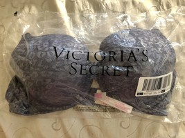 Victoria's Secret Pink Wear Everywhere T-Shirt Bra Gray lace 36D - $29.95
