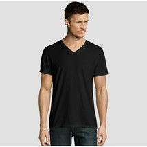Hanes Premium Men's Short Sleeve Black Label V-Neck T-Shirt - Gray 2XL - £2.92 GBP