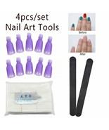 Limegirl® 4Pcs/Kit Plastic Nail Art Soak Off Clip Caps UV GelPolish Magi... - $6.93+