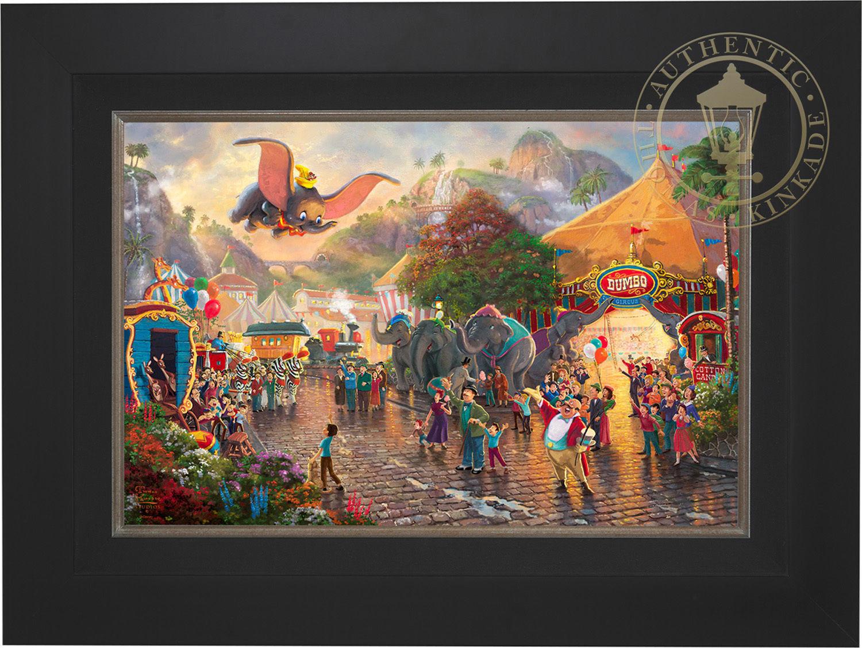 Thomas Kinkade Disney Dumbo 18 x 27 LE G/P Canvas Framed