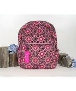 Vera Bradley Raspberry Medallion Quilted Cotton Iconic Campus Backpack NWT - $103.46