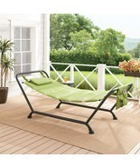 Mainstays Belden Park Quilted Hammock with Stand and Pillow for Outdoor ... - £82.14 GBP