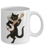 11oz Unique Anthropomorphic Cat Novelty White Ceramics Tea Coffee Cup - $7.99