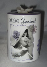 XO XO Grandma Candle Holder Tea Light Flower Purple New - $6.92