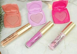 Too Faced Naughty Kisses Blush Lip Injection Gloss Lot of 6 Travel Sz Se... - $29.02