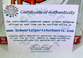 BARRY SANDERS / NFL HALL OF FAME / AUTOGRAPHED OSU LOGO MINI HELMET / SCHWARTZ image 8