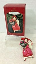 1999 Language of Flowers #4 Rose Hallmark Christmas Tree Ornament MIB Pr... - $14.36