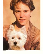Jonathan Brandis teen magazine pinup clipping with a puppy 90's All-Star... - $15.00