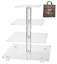Jusalpha 4 Tier Square Acrylic Cupcake Tower Stand-Cake Stand-Dessert St... - $28.00