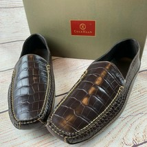 Cole Haan Paseo Moc Croc Brown Leather Loafers Shoes  mens 11.5 NIB - $175.00