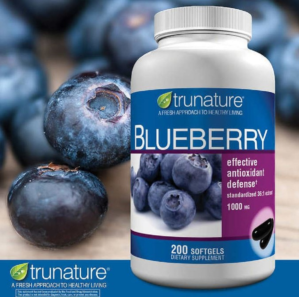 Blueberry extract softgels