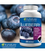 Blueberry Extract Softgels Antioxidant 1 Bottle 200 Ct Health Support Su... - $24.49